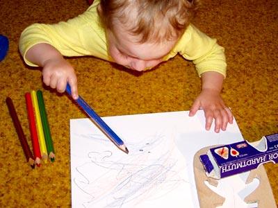 necháme tvořit našeho malého výtvarníka